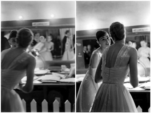 Style icons, Audrey Hepburn and Grace Kelly at the 28th Annual Academy Awards in 1956 - mylusciouslife.com