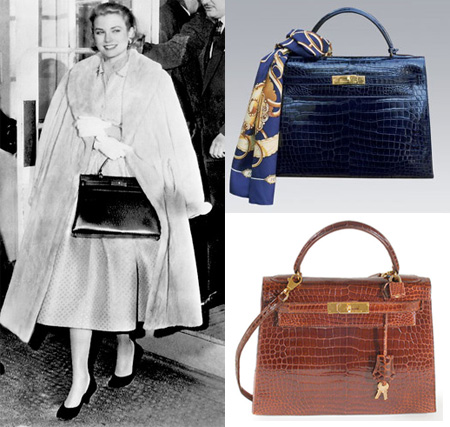 Grace Kelly with her Hermes Kelly bag