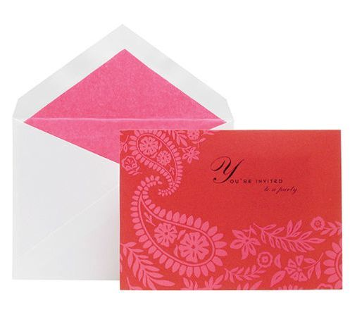 Kate Spade stationery - mylusciouslife.com - elegant pink and red stationery