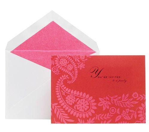 Kate Spade stationery - mylusciouslife.com - elegant pink and red stationery