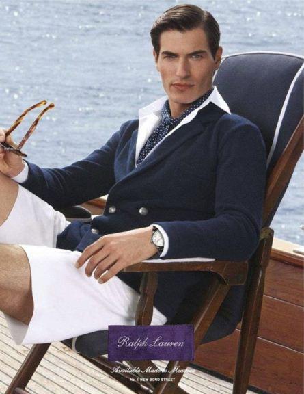 Navy blue blazer style