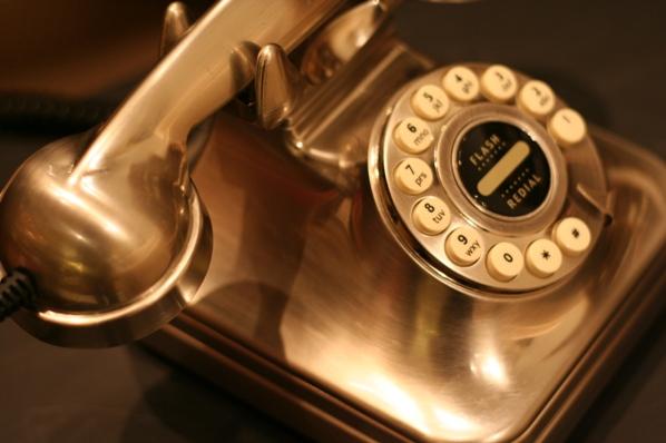 gold retro phone