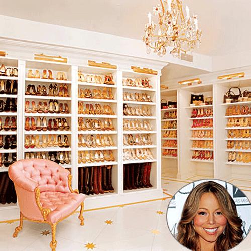 Mariah Carey's shoe closet