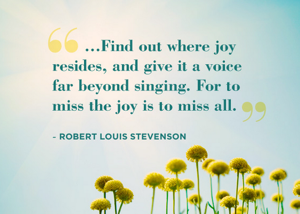 Happiness quote from Robert Louis Stevenson