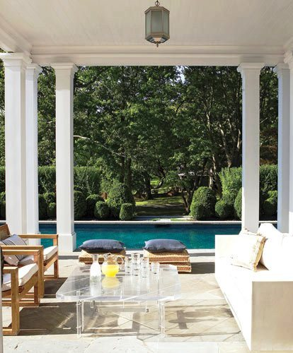 Luscious outdoor living - mylusciouslife.com - elle-decor-beach-house-terrace-and-pool