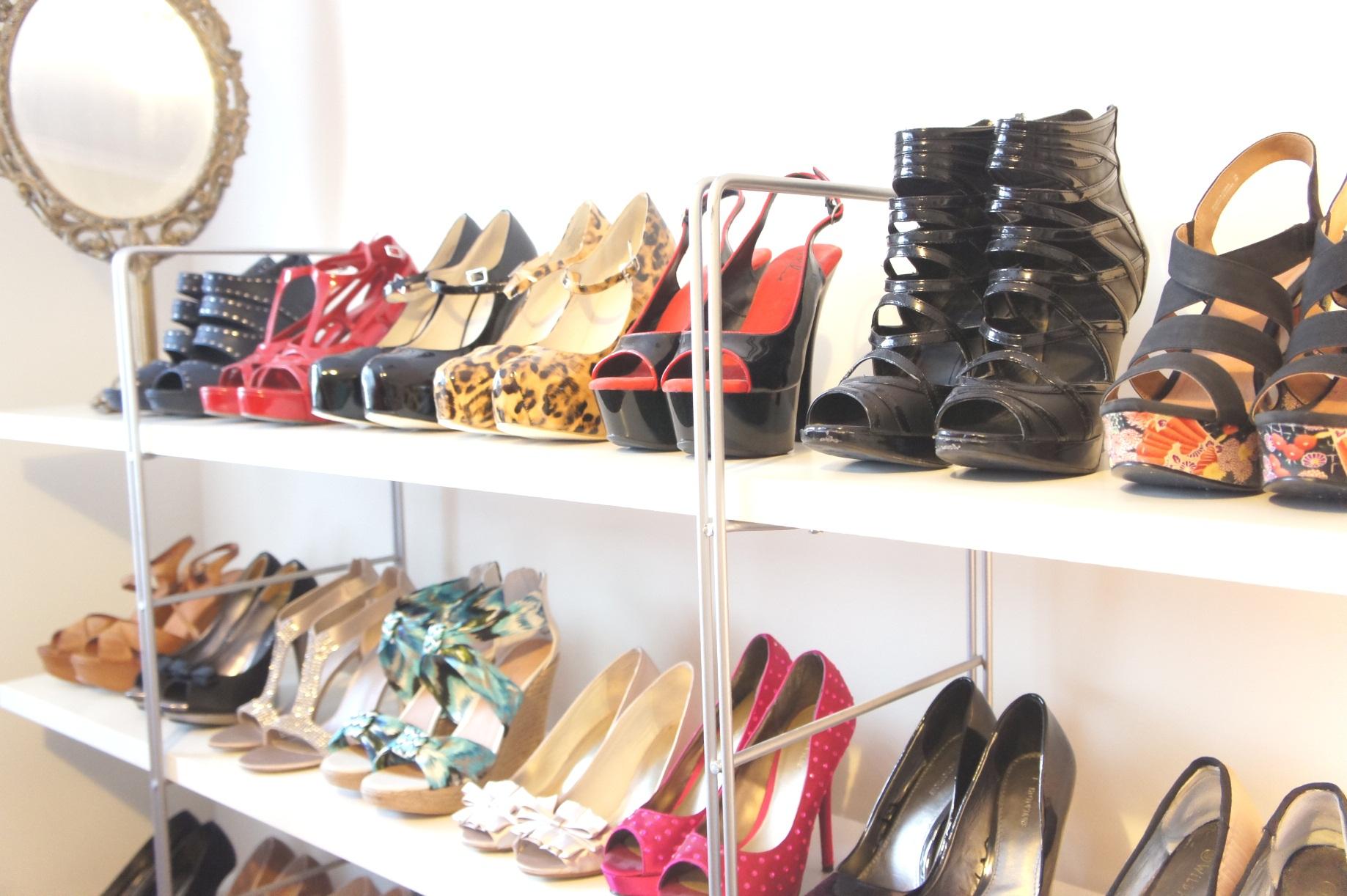 Natasha's shoe closet - www.myLusciousLife.com - shoe storage