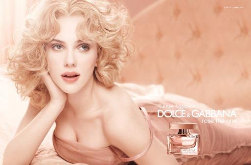 Scarlett Johansson - fragrance Dolce e Gabbana