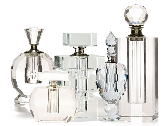 Anthropologie crystal perfume bottles