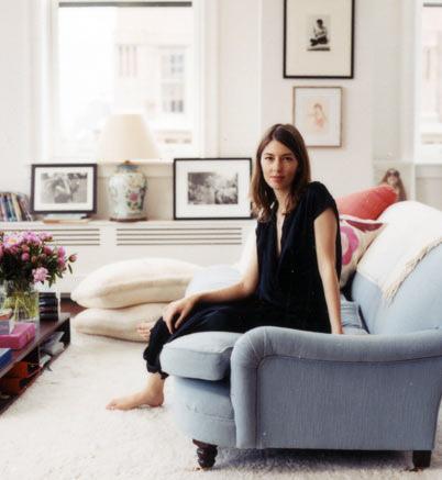 Sofia Coppola in her apartment