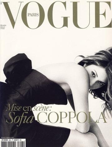 Sofia Coppola on the cover of Vogue magazine