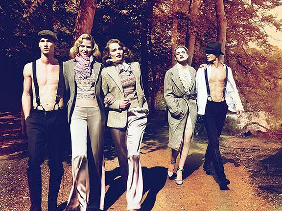 """Sunday at the Park"" by Mert and Marcus for W Magazine 2009"