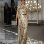 A colourful life - mylusciouslife.com - Delicious gold silver sequinned dress on the runway
