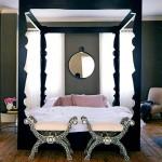 Decorating with mirrors - Bedroom canopy-domino magazine