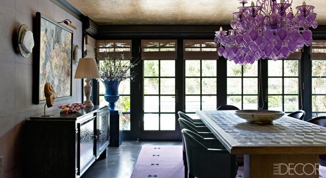 At home with lara and jeff sanderson on mercer island for Elle decor best dining rooms