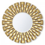 Decorating with maps - Gold sunshine mirror from christopherguy.com