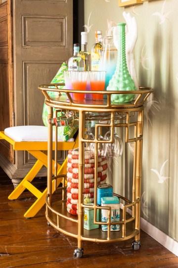 Luscious bar cartsand cocktail trays