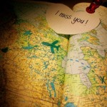 where would you like to go - luscious travel - map with I miss you note