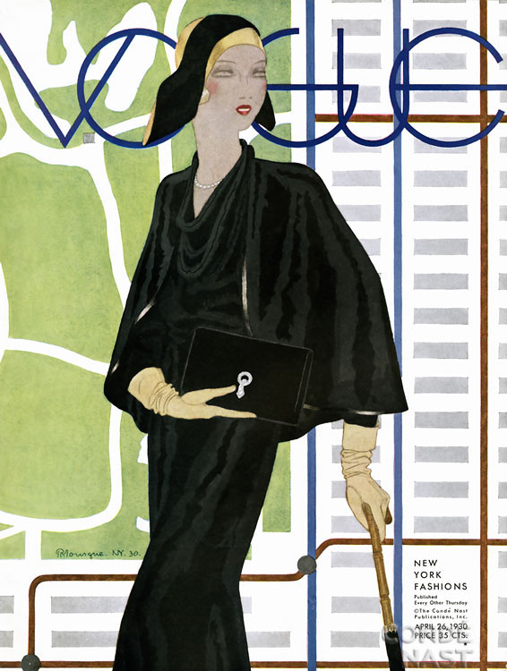 Vintage Vogue magazine covers - mylusciouslife.com - April 26 1930 - vintage cover of Vogue