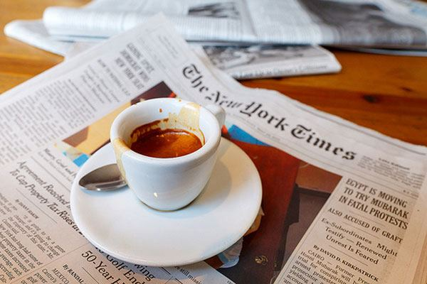 A luscious life - luscious coffee and newspaper