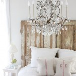 Sophisticated chandelier in the bedroom