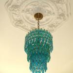 Ceiling medallion chandelier