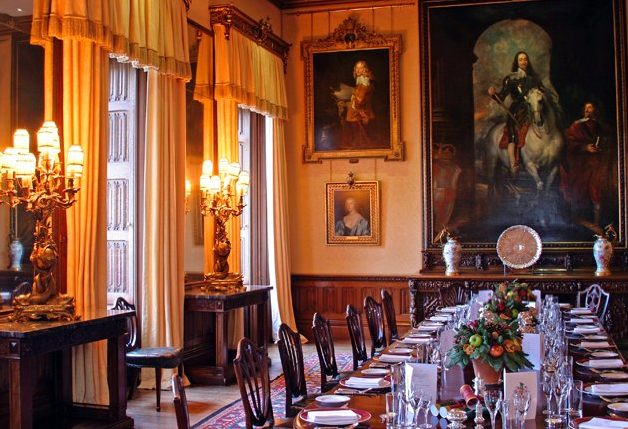 Downton Abbey and Highclere Castle interiors - dining room