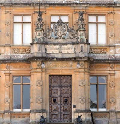 Downton Abbey and Highclere Castle front door