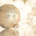 Golden Christmas tree bauble
