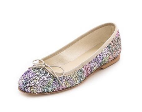 Anniel silver glitter ballet flats