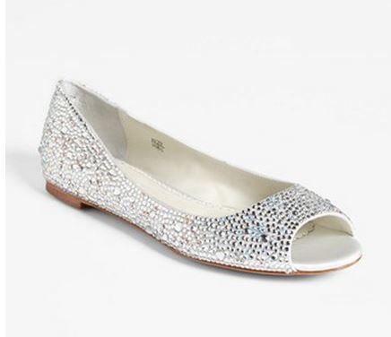 Benjamin Adams London silver glitter ballet flats