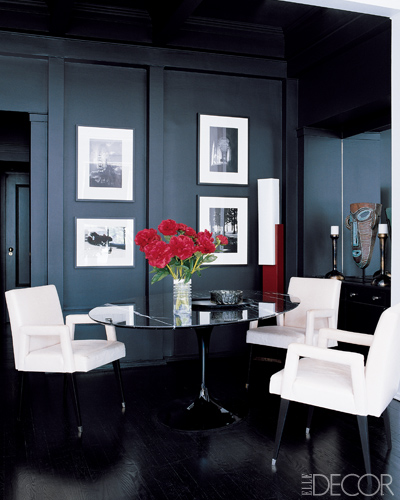Black dining room ideas
