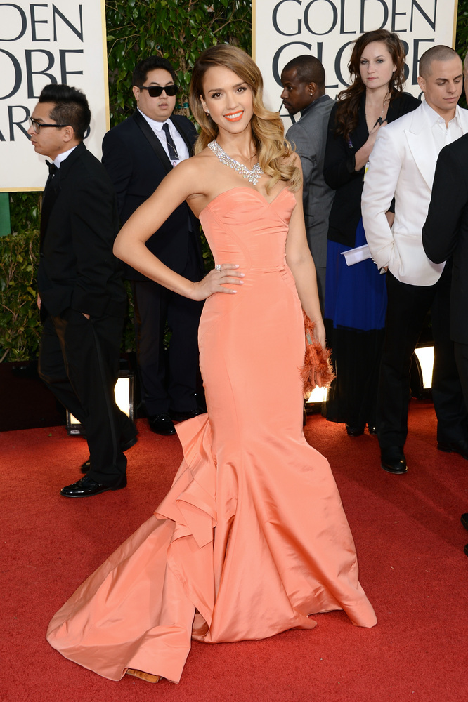 Golden Globes 2013 - Jessica Alba in Christian Dior