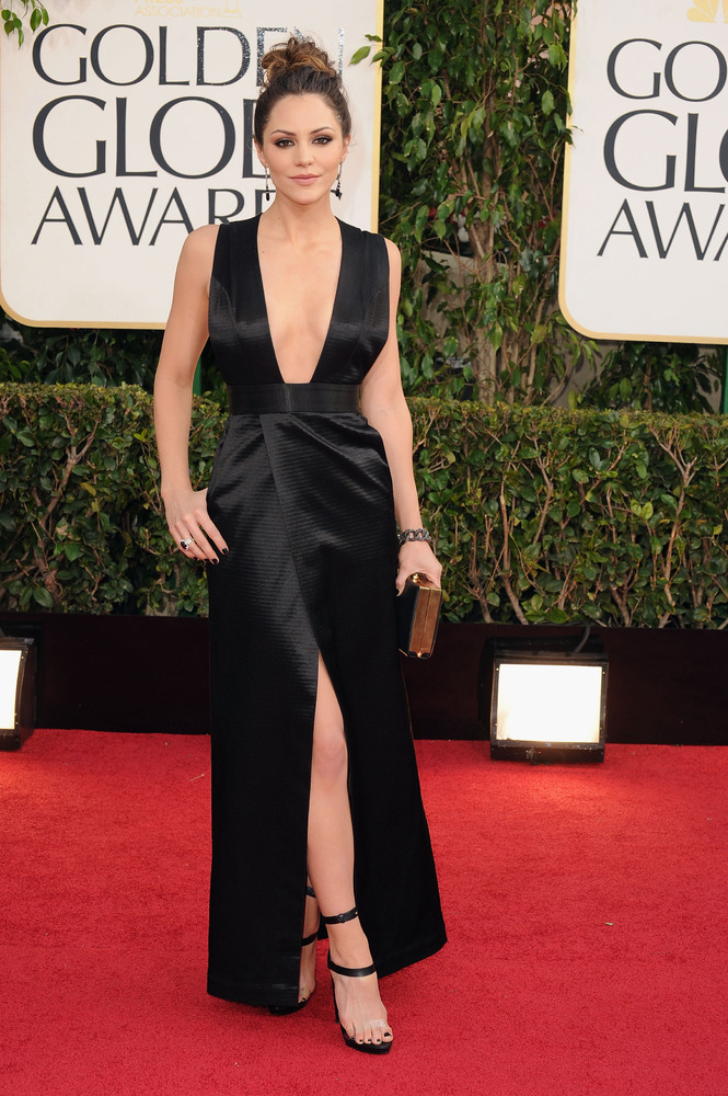 BEST DRESSED Golden Globes 2013 - Katharine McPhee in Theyskens Theory