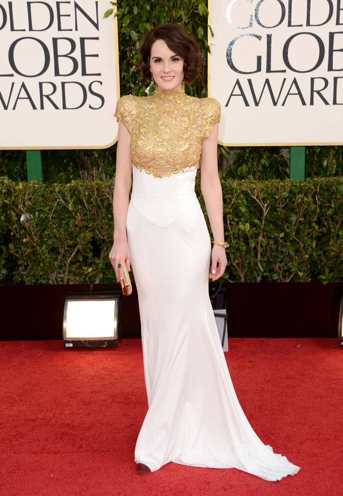 Downton Abbey's Michelle Dockery in Alexander Vauthier - Golden Globes 2013