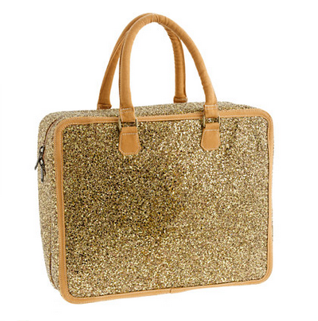 J Crew Girls Glitter Large Overnighter bag