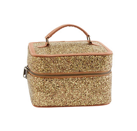 J Crew Girls Glitter Mini Overnighter makeup bag