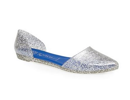 Jeffrey Campbell silver Jelly Love ballet flats