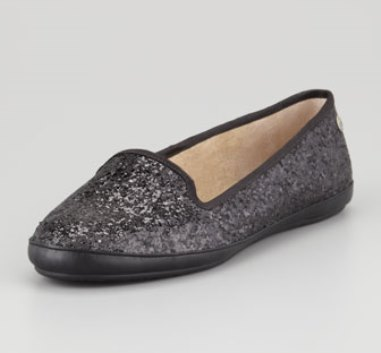 UGG Australia black Asher lined glitter loafer