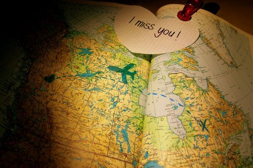 luscious travel - I miss you - map