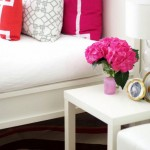 White and pink decor via Adore Home online magazine