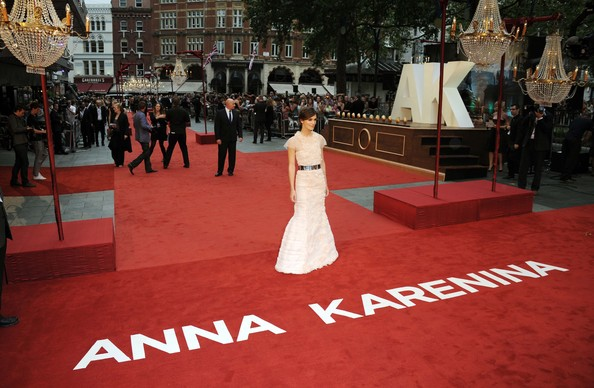 Keira Knightley in Chanel at the Anna Karenina 2012 UK film premiere