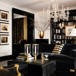 Decorating with black and gold - Ralph Lauren Home Gold collection