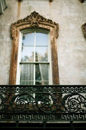 Luscious balcony in Paris - gold, greige and black lacework