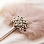 Mother of pearl - Fleur-pale-pink-feather-fan