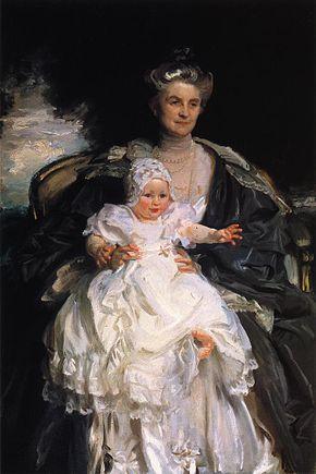 Mrs Henry Phipps and Her Grandson Winston by John Singer Sargent 1906-07