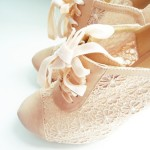 Pictures of lace - beige cream lace shoes