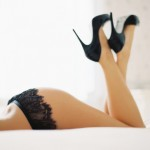 Pictures of lace - black lingerie shoes