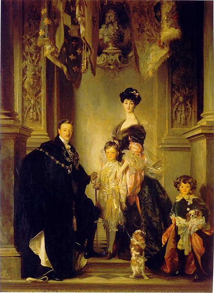 The Duke of Marlborough and Consuelo Vanderbilt and family by Singer Sargent