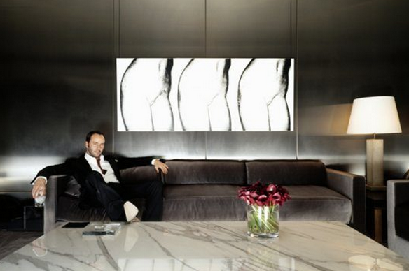 Tom Ford Lounging At Home Couch Living Room