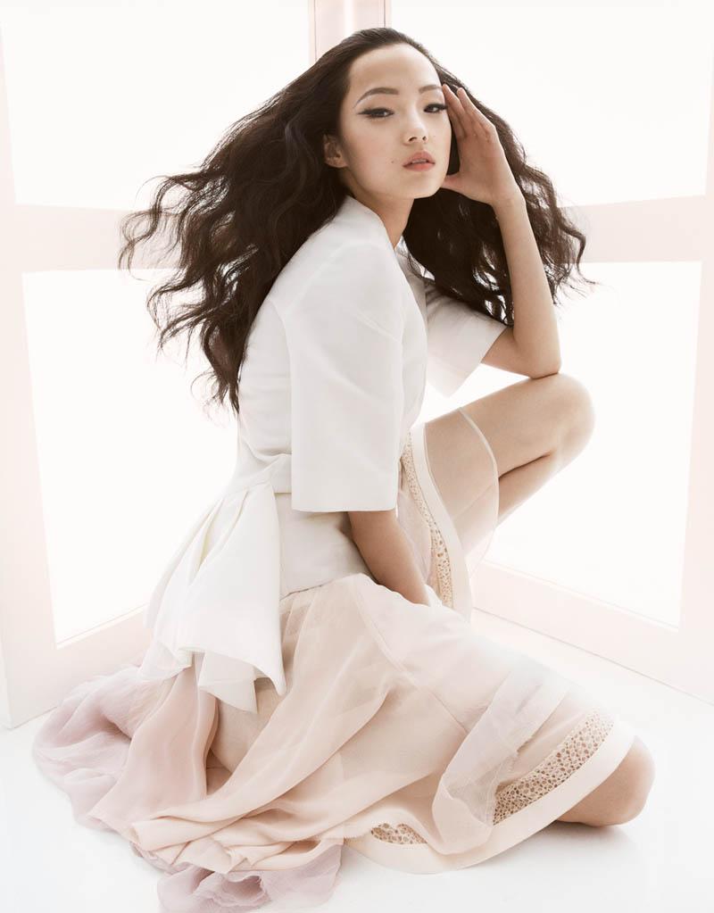Xiao Wen Ju by Greg Kadel for Vogue China March 2013
